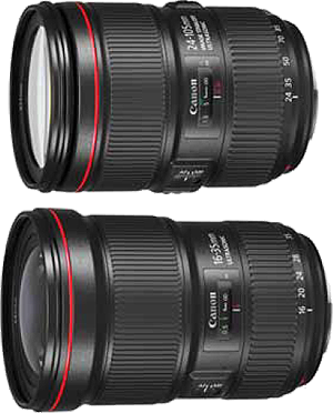 EF24-105mm F4L IS II USM / EF16-35mm F2.8L III USM