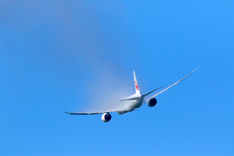 翼の上にベーパーが出たタイミング